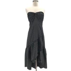 Eliza J Strapless Polka Dot Cocktail Dress